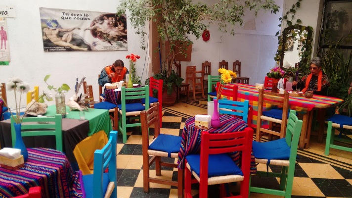 Vegetarian Restaurant 'Lesvia', in downtown Leon.