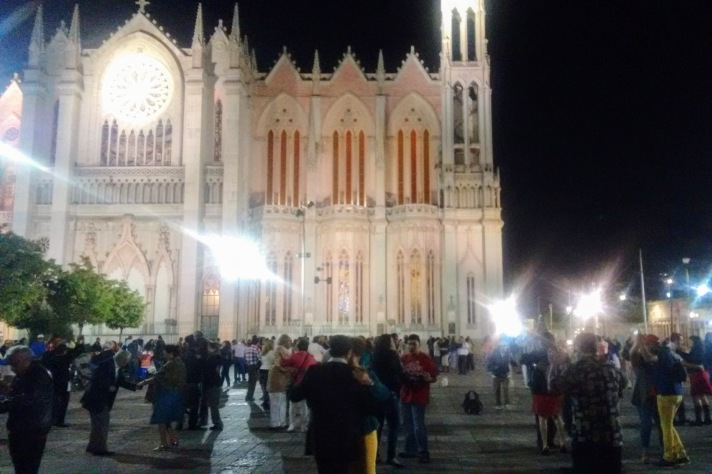 The Expiatory Church at night in leon, Guanajuato.