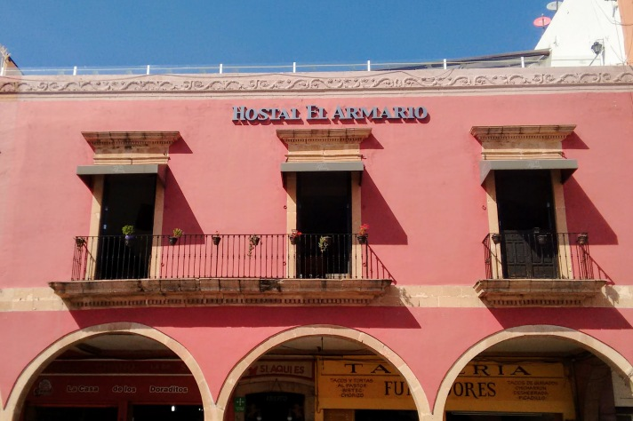 Hostel 'El Armario' in Leon, Guanajuato.