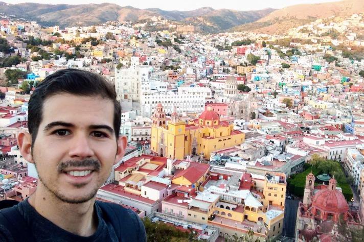 Selfie desde el mirador del Monumento del Pípila, Guanajuato.