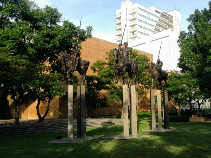 The Sculptures Backyard, a permanent exposition outside of MAHG.