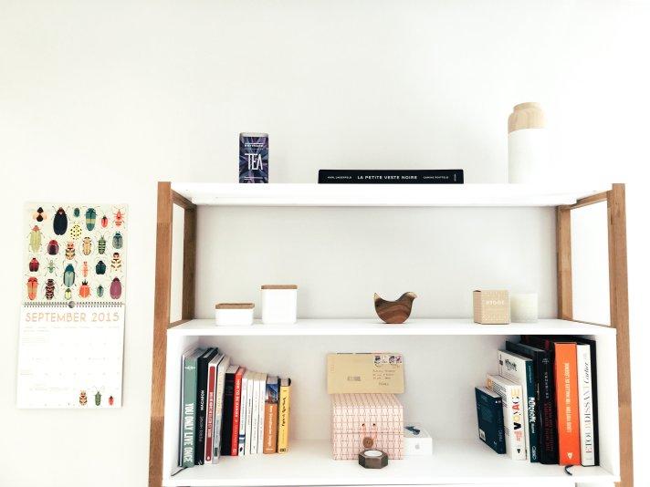 Organized shelves.